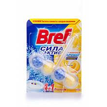 Твердый туалетный блок Bref  Сила Актив 4 в 1 Лимонная свежесть, 50 г