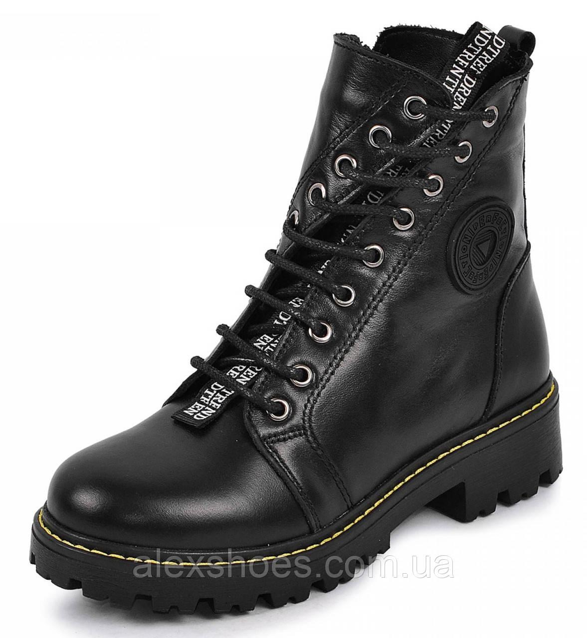 Ботинки подростковые для девочки из натуральной кожи от производителя модель МАК135