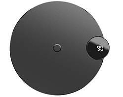 Бездротове зарядний пристрій QI BASEUS with Digital LED Display WXSX-01, чорне