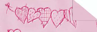 """Картон дизайнерский цветной """"Биение сердца"""" 220г 20Х30см ВОЗЛЮБЛЕННАЯ"""