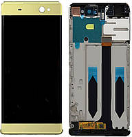 Дисплей Sony Xperia XA Ultra F3211, F3212, F3213, F3215, F3216 + Touchscreen with frame (original) Gold