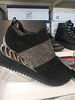 Ботинки женские натуральный замш Fabio Monelli
