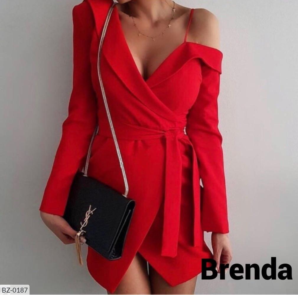 Женское платье стильное, повседневное!! Размер: 42-44, 44-46. Ткань: креп костюмка.  Цвет: красный, черный.
