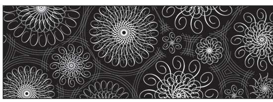"""Картон дизайнерский цветной """"Черно-белый"""" 220г 21Х30см СПИРАЛЬНЫЕ ОРНАМЕНТЫ НА ЧЕРНОМ ФОНЕ"""