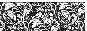"""Картон дизайнерский цветной """"Черно-белый"""" 220г 21Х30см ЦВЕТОЧНЫЙ ОРНАМЕНТ"""
