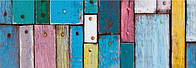 Картон дизайнерский цветной 300г 20х30см ДРЕВЕСИНА ЦВЕТНАЯ