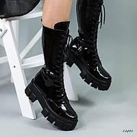 Женские демисезонные ботинки на массивной подошве, фото 1