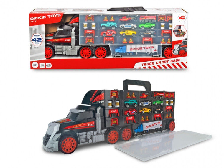 Трейлер Перевозчик авто Грузовик с ручкой , длина 62 см, 3+ Dickie Toys Truck Carry Case 3749023