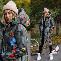 Женская длинная зимняя молодежная  куртка-пуховик. Цвета!, фото 1