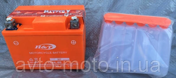 Аккумулятор АКБ 12V7a.h сухозаряженный с кислотой H&T