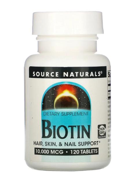 Source Naturals Biotin 10000 mcg 120 tabs