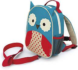 Дитячий міні-рюкзак з повідцем Skip Hop Zoo let (mini backpack with rein) - Owl (Сова), 1-4 р.