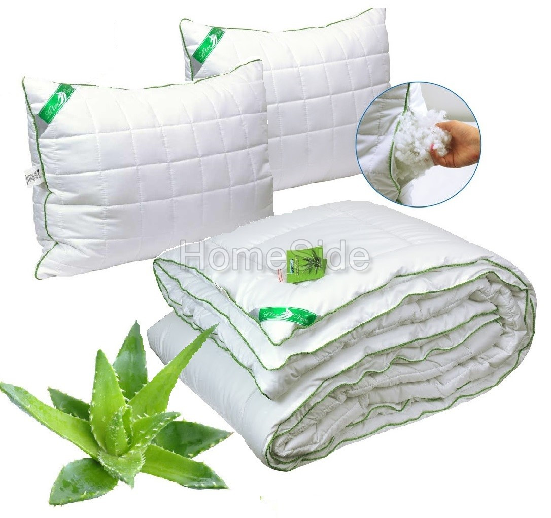 Одеяло евро 200x220 с подушками Алое Вера 200г/м2 антиаллергенное (322.52Aloe Vera)