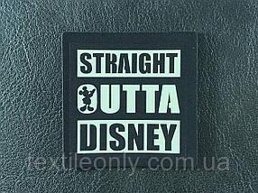 Нашивка Straight Outta Disney светоотражающий 50х50 мм