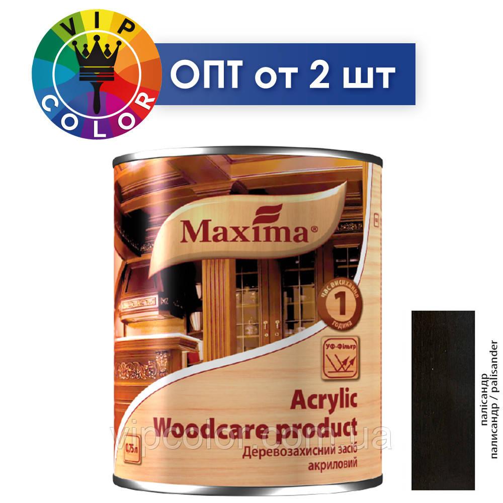 Maxima деревозащитное средство акриловое - палисандр, 2.5 л