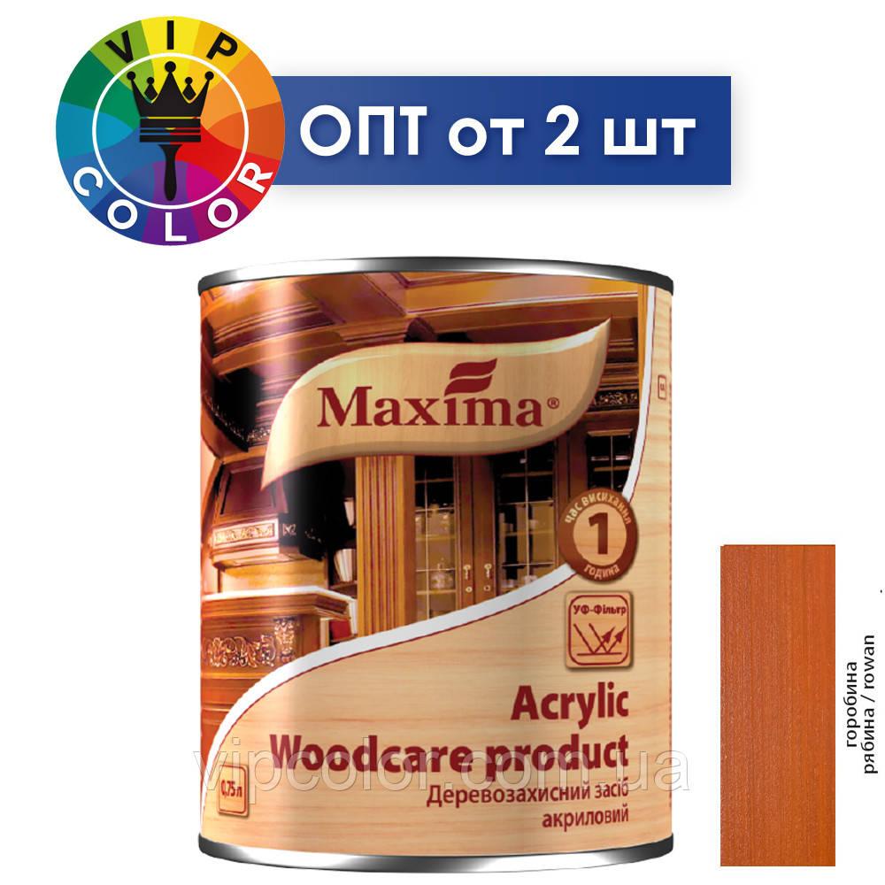 Maxima деревозащитное средство акриловое - рябина, 2.5 л