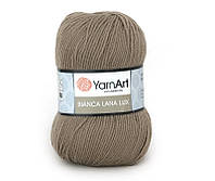Пряжа YarnArt Bianca Lanalux 100гр - 250м (761 Бежевый)100% шерсть, Турция