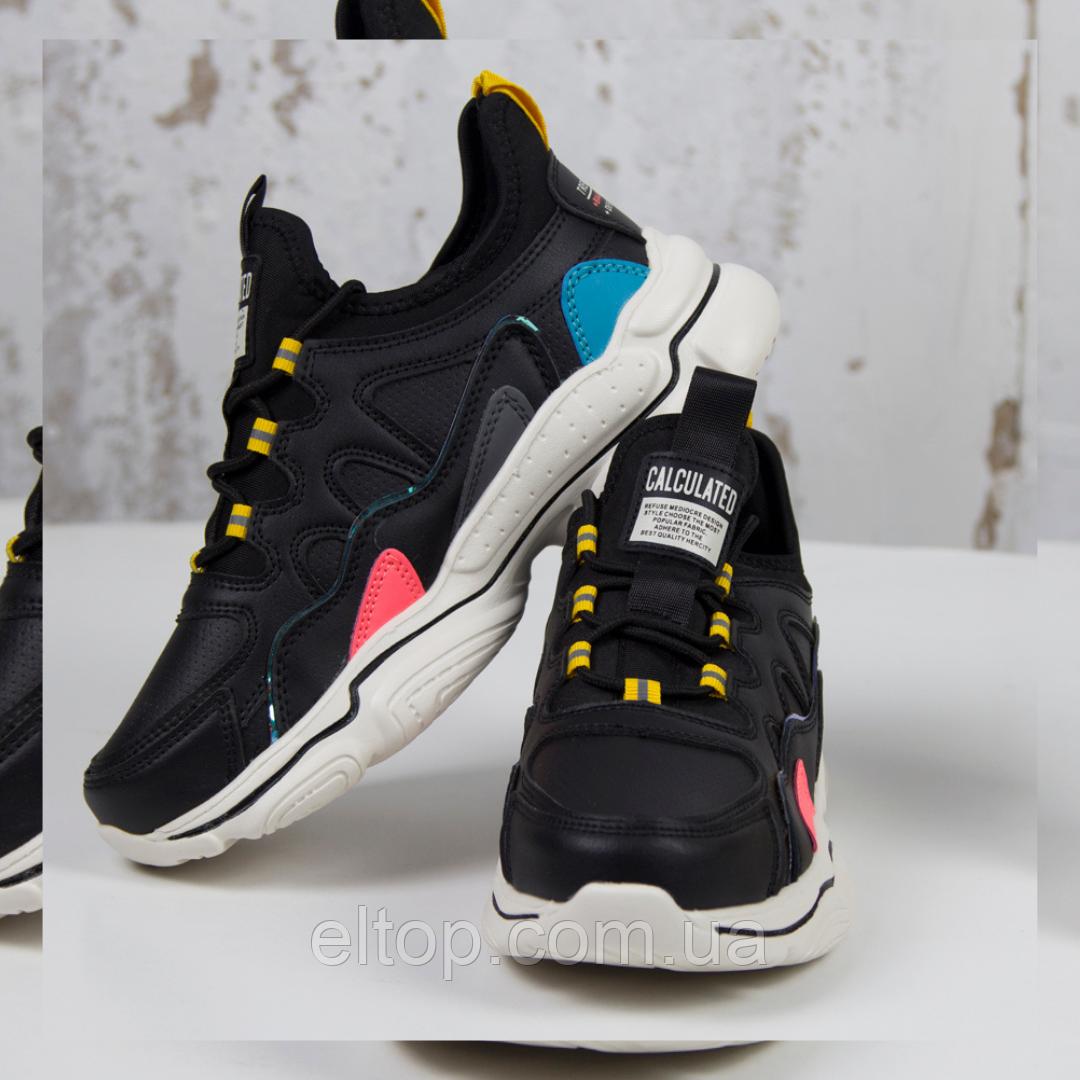 Модные кроссовки женские спортивные черные BaaS Стильные повседневные демисезонные кроссовки размер 36 - 41
