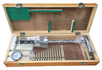 Нутромер с индикатором часового типа KM-DB250 (150-250 мм) с 13 насадками сменными