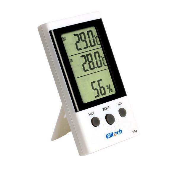 Термо-гигрометр Elitech DT-3 (Великобритания) ( -30°C... +50°C; 20%…99%) с термопарой 1.7 м (-50...+70°C)