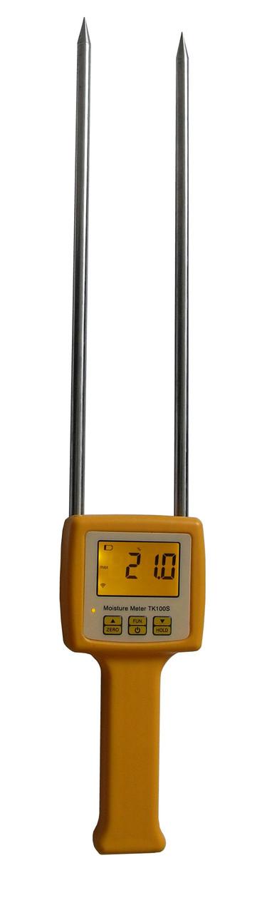 Портативный влагомер-щуп зерновых TK100S (% 5~ 35%RH; -10 ~ 60 ° C). С 4 режимами измерений, в чехле