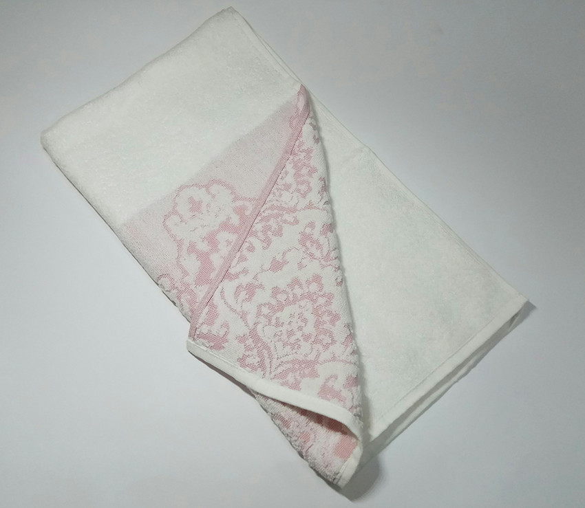 Рушник жаккард Візерунок рожеве