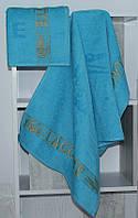 Рушник махровий Lacoste блакитне