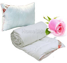 Одеяло с Подушкой 140х205 Роза Белая 250г/м2 Полуторное Руно (321.52Rose)