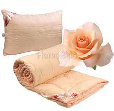 Одеяло 140х205 полуторное + подушка 50х70 стеганное Роза 250г/м2 демисезонное