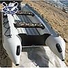 Моторная лодка с надувным дном Sport Boat N 290 LD NEPTUN (дно НДНД) трехместная лодка ПВХ под мотор Спорт Бот, фото 3
