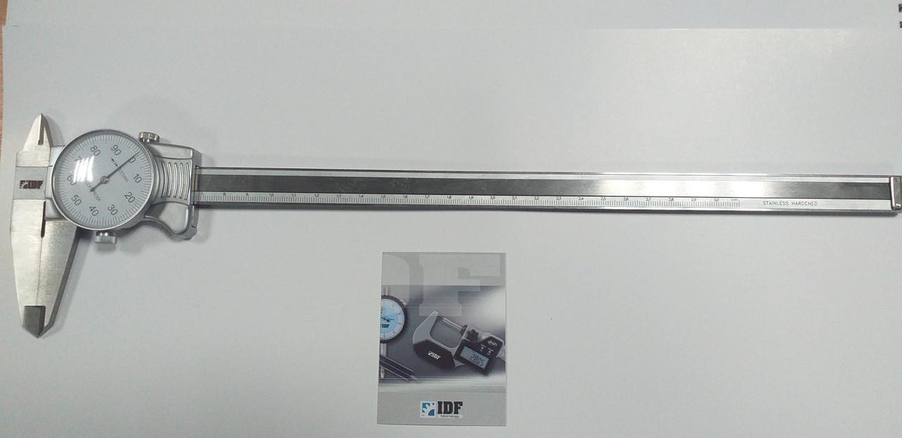 Штангенциркуль I.D.F. ШЦ-300-0,01 (0-300 мм; ±0.02) стрелочный. Италия