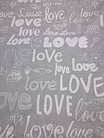 Фланель (байка) Love серая  220 см/ Отрез 1.1 м