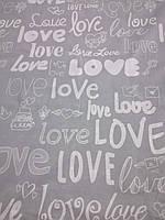 Фланель (байка) Love сіра 220 см