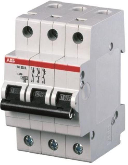 Автоматичний вимикач 40А, 3 полюси, тип B, ABB SH203-B40