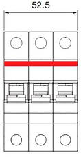 Автоматичний вимикач 40А, 3 полюси, тип B, ABB SH203-B40, фото 3