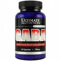 Гамма-аминомасляная кислота ГАМК (GABA) Ultimate Nutrition Gaba 750 mg 90 caps