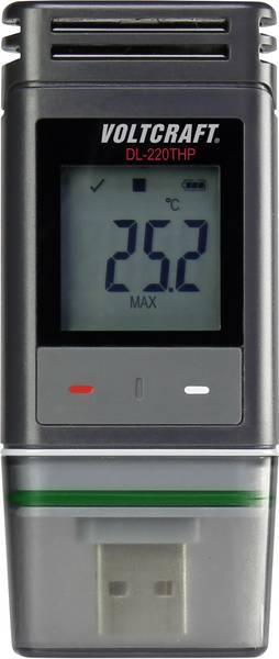 Регистратор температуры, влажности и давления Voltcraft DL-220 THP (-30...+60°C; 0-100%) IP65. Германия
