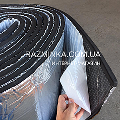 Вспененный каучук 32мм фольгированный самоклеющийся, рулон 6м² (каучуковая изоляция)