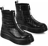 Ботинки подростковые для девочки из натуральной кожи от производителя модель МАК1868, фото 3