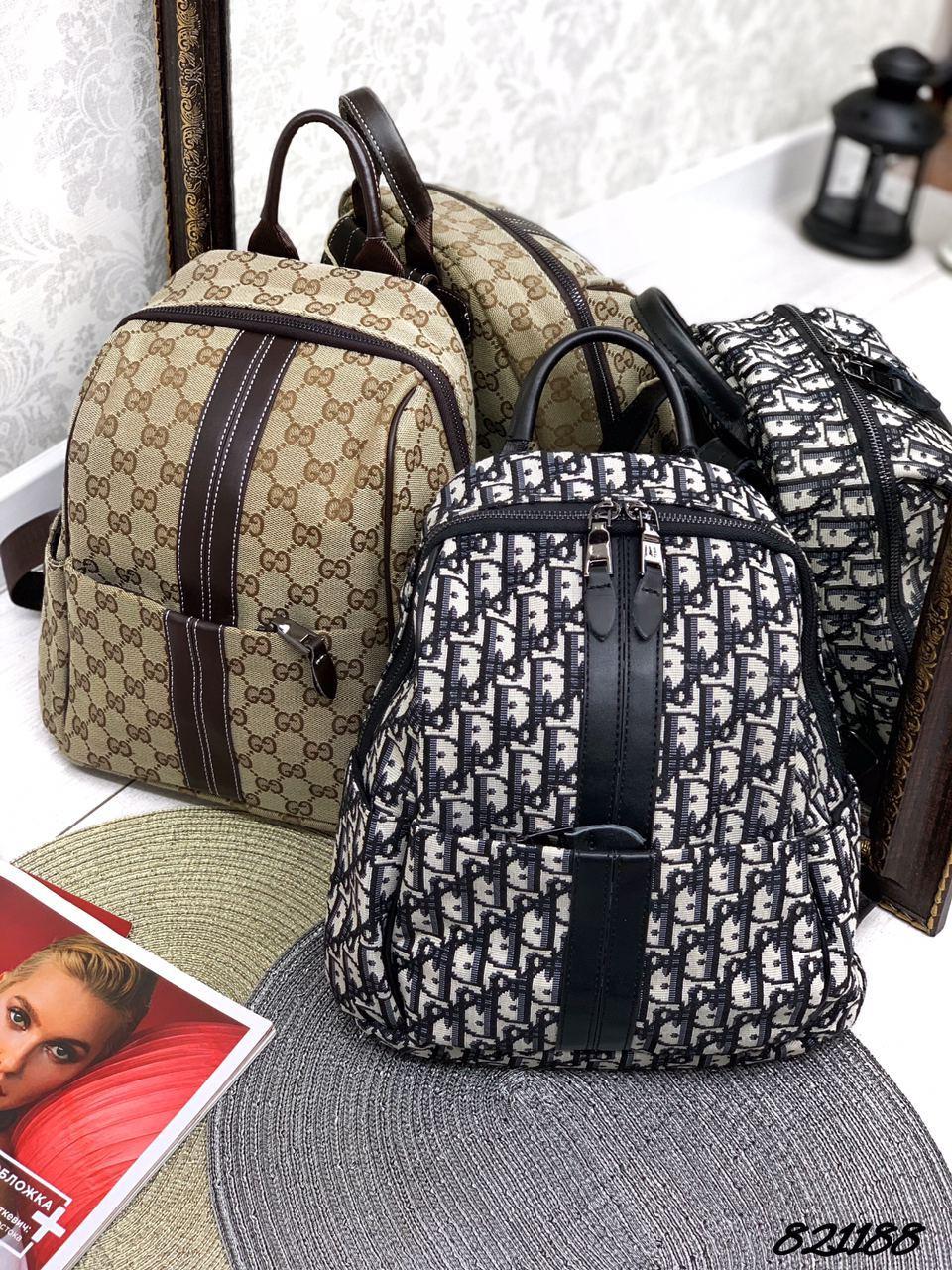 Рюкзак в стиле Рюкзак текстиль комбинированный Гучи