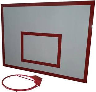 Баскетбольный щит с кольцом металл (0,8м. х1м.)
