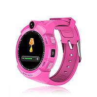 Умные часы Smart Baby Watch GW600 (Q360) Pink  GPS-часы с камерой, фото 3