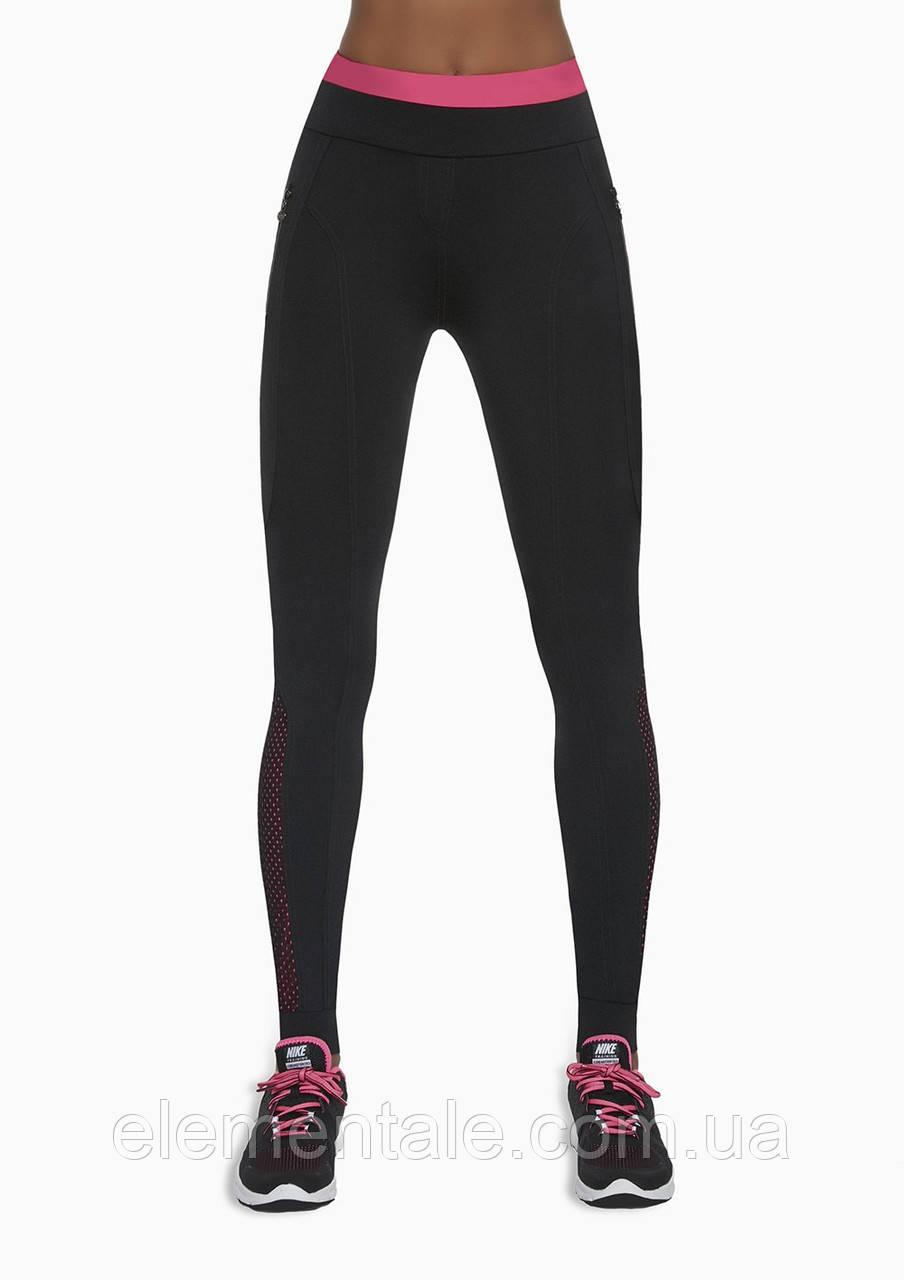 Женский костюм для фитнеса Bas Bleu Inspire S Черный с розовым