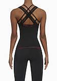 Женский костюм для фитнеса Bas Bleu Inspire S Черный с розовым, фото 7