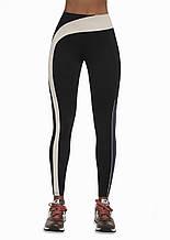 Женский костюм для фитнеса Bas Bleu Flow S Черно-бежевый