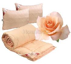 Комплект Одеяло Евро + 2 Подушки 200х220 Розы 250г/м2 Руно (322.52Rose Pink)