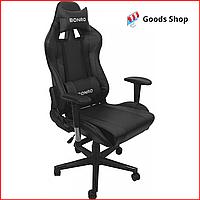Кресло геймерское Bonro 2011-A игровое компьютерное кресло офисное раскладное мягкое профеcсиональное черное