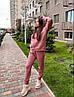 Женский спортивный костюм с худи на флисе размеры S, M, L, XL розовый, фото 2