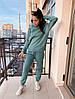 Женский спортивный костюм с худи на флисе размеры S, M, L, XL голубой, фото 6