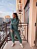 Женский спортивный костюм с худи на флисе размеры S, M, L, XL голубой, фото 2